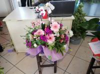 Sepette orkide aranjmanı Datça